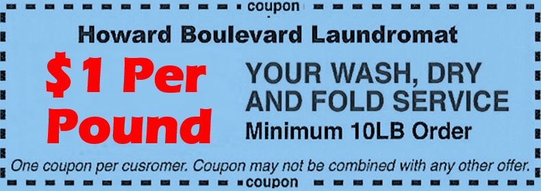 howard boulevard laundromat coupon